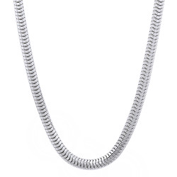 4mm Solid .925 Sterling Silver Round Snake Chain Necklace