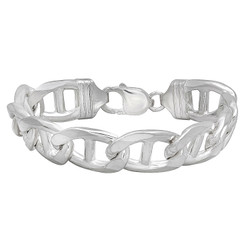 1mm-13mm Solid .925 Sterling Silver Flat Mariner