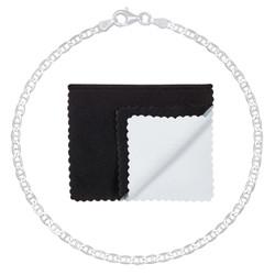 2.7mm Solid .925 Sterling Silver Flat Mariner Chain Bracelet