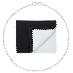 1.2mm Solid .925 Sterling Silver Heshe Chain Bracelet