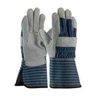 Leather Palm Glove with Gauntlet cuff (Dozen pair)
