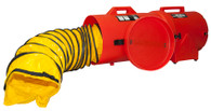 """Confined space ventilation 12"""" blower system"""
