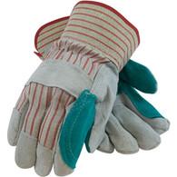 """""""B/C"""" Grade Shoulder Split Cowhide Leather Double Palm Glove - Large (Per DZ)"""