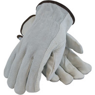 Regular Grade Top Grain/Shoulder Split Cowhide Leather Driver's Glove - Keystone Thumb (Per DZ)