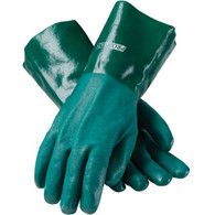 "ProCoat® PVC Dipped Glove with Jersey Liner and Rough Acid Finish - 14"" - Large (Per DZ)"