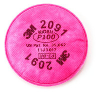 3M™ P100 Particulate Filter 2091 (Per PK)