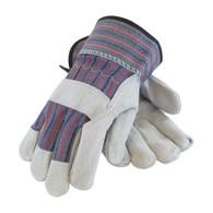 """B/C"" Grade Shoulder Split Cowhide Leather Palm Glove with Fabric (Per DZ)"