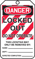 Lockout - Tagout Tags - Cardstock (Per PK)