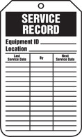 Equipment Status Service Record Tags - Cardstock (Per PK)