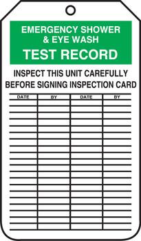 Emergency Eyewash Amp Shower Station Record Inspection Tags