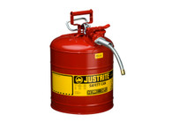 "Type II AccuFlow™ Steel Safety Can , 5 Gal., S/S Flame Arrester, 5/8"" Metal Hose"