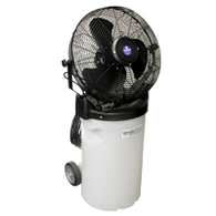 VersaMist Portable Low Pressure Misting Fans (w/ Wheels and Pull Handle)
