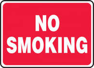 "No Smoking Sign (White On Red) 10""x14"""