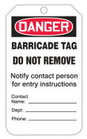 Danger Barricade Tags (100/RL)