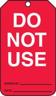 Equipment Status Do Not Use Tag (25/PK)