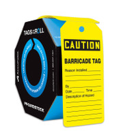 Caution Barricade Tags by the Roll (Per RL)