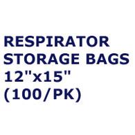 "Respirator Storage Bag, 4 mil, 12""x15"" (Per PK)"
