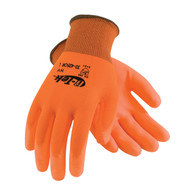 G-Tek® Hi-Vis Seamless Knit Polyester Glove w/ Polyurethane Coated Smooth Grip  (Per DZ)