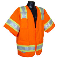 SV63 Two-Tone Surveyor Class 3 Vests - Orange