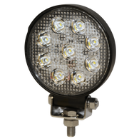 E92005 1,000 LUMENS ROUND LED WORKLAMP 12-24VDC 9 LED FLOOD BEAM