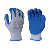 Blue Crinkle Latex Palm Coated Glove (Per DZ)