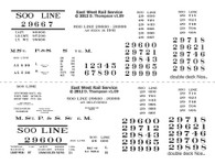 Decals - Soo Line Stock Car - 1921