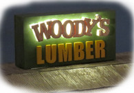 Woody's Lumber Yard - Sign