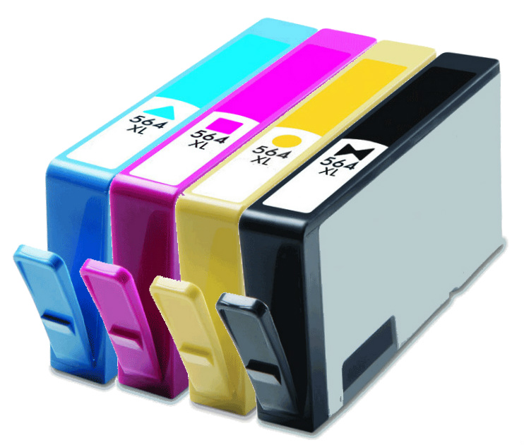 4 Pack New Gen For Hp 564xl Ink Cartridge For Photosmart 7515 7525