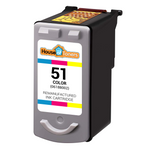 Canon CL-51 (0618B002) High Yield Tri-Color Ink Cartridge (Remanufactured)