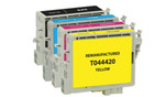 Epson T044 Series Ink Cartridge 4PK - Black, Cyan, Magenta, Yellow (Remanufactured)
