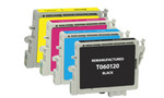 Epson T060 Series Ink Cartridge 4PK - Black, Cyan, Magenta, Yellow (Remanufactured)