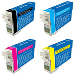 Epson T125 Series Ink Cartridge 4PK - Black, Cyan, Magenta, Yellow (Remanufactured)