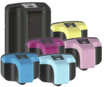 HP #02 High Yield Ink Cartridge 6PK - Black, Cyan, Magenta, Yellow, Light Cyan, Light Magenta (Remanufactured)
