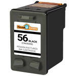 HP #56 (C6656AN) Black Ink Cartridge (Remanufactured)