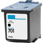 HP #701 (CC635A) Black Ink Cartridge (Remanufactured)