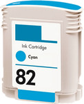 HP #82 (C4911A) Cyan Ink Cartridge (Remanufactured)
