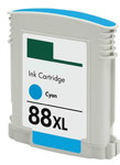 HP #88XL (C9391AN) High Yield Cyan Ink Cartridge (Remanufactured)