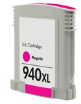 HP #940XL (C4908A) High Yield Magenta Ink Cartridge (Remanufactured) - Shows Accurate Ink Levels