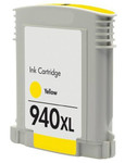 HP #940XL (C4909A) High Yield Yellow Ink Cartridge (Remanufactured) - Shows Accurate Ink Levels