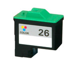 Lexmark #26 (10N0026) Color Ink Cartridge (Remanufactured)
