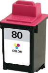 Lexmark #80 (12A1980) Color Ink Cartridge (Remanufactured)