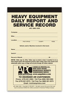 APC UMS-1009: Heavy Equipment Daily Report & Service Record