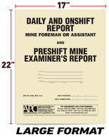 APC PC-1489: Preshift-Onshift & Daily Report, Large Format