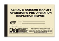 APC 29 CFR 1910.68: Aerial & Scissor Man-lift Operator's Pre-operation Inspection Report