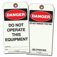 Do Not Operate This Equipment Tag