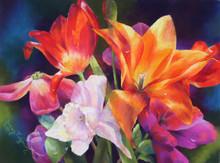 18 x 24 A Taste of Spring S589 Original Painting in Pastel Print by Susan Edgmon