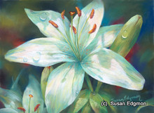 10.75 x 14.75 Dianne's Lily S570-2/500 Original Painting in Pastel Print by Susan Edgmon