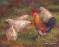 14.5 x 18.5 Listen Up Ladies S541-2/250 Original Painting in Pastel Print by Susan Edgmon
