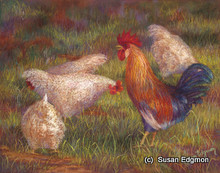 14.5 x 18.5 Listen Up Ladies S541-2/250 Original Painting in Pastel Print by Susan Edgmon