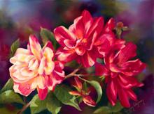 18 x 24 Mt Olive Roses S536-10/750 Original Painting in Pastel Print by Susan Edgmon